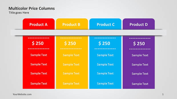 Data chart archives slide ocean multicolor price columns ppt table the table is very useful ccuart Images