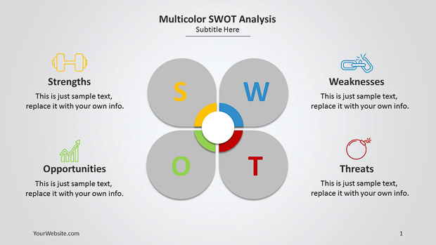 multicolor swot analysis ppt - slide ocean, Modern powerpoint