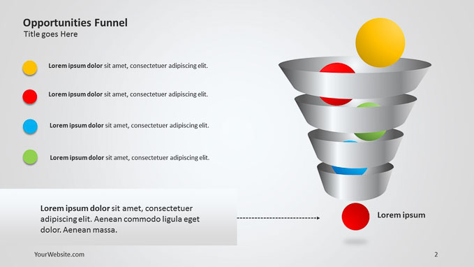 opportunities funnel ppt diagram - slide ocean, Modern powerpoint