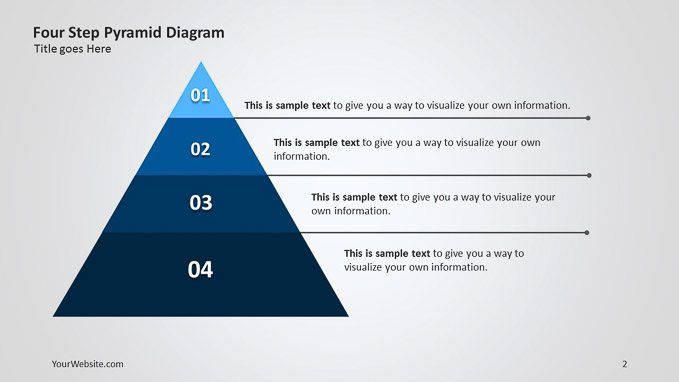 Four Step Pyramid Powerpoint Diagram  U2013 Slide Ocean