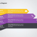 Five Step Process PowerPoint Diagram