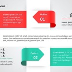 Ribbons PowerPoint Diagram
