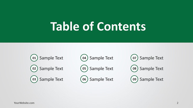Powerpoint templates table of contents choice image for Table design google slides