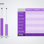 Three Things Circle PPT Data Chart