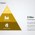 Four Step Pyramid PowerPoint Diagram