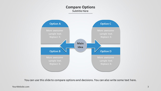 Compare Options Powerpoint Diagram