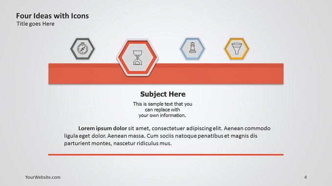 Four ideas with icons ppt diagram slide ocean four ideas with icons ppt diagram a simple diagram made to present four ideas that are related to one process the template is free for you to download toneelgroepblik Gallery