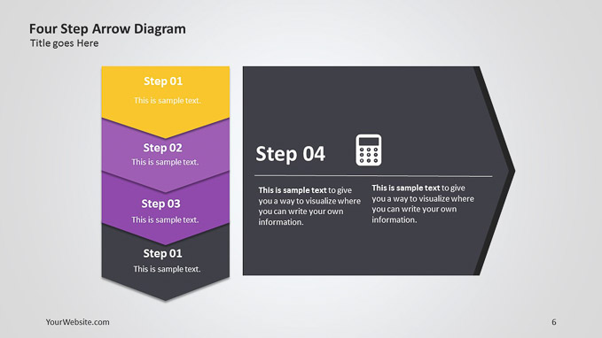 Four step arrow powerpoint diagram slide ocean four step arrow powerpoint diagram this is a chevron or arrow diagram that can be used to present information and steps that follow one another but that toneelgroepblik Image collections