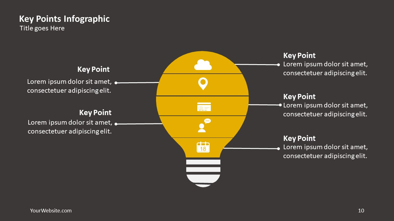 key points ppt infographic  u2013 slide ocean
