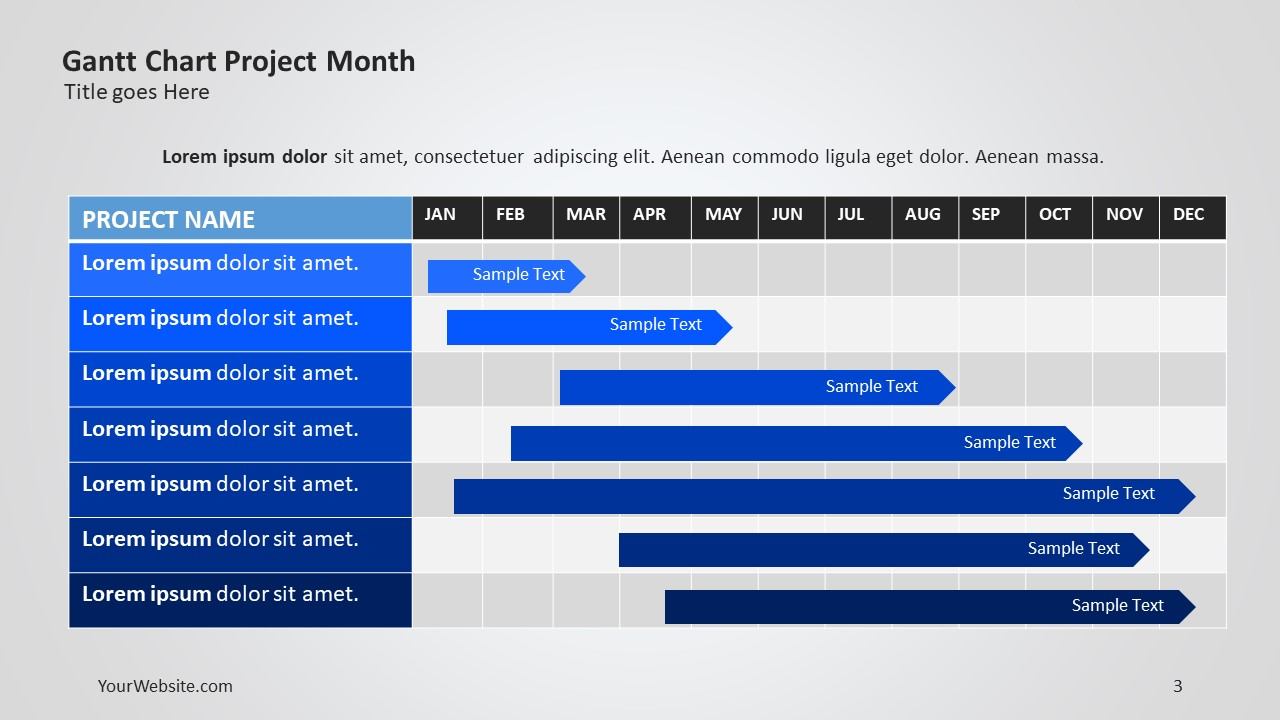 Gantt chart tasks ppt slide ocean gantt chart weekly tasks powerpoint gantt charts are often used to organize and present project development this is a weekly template nvjuhfo Images