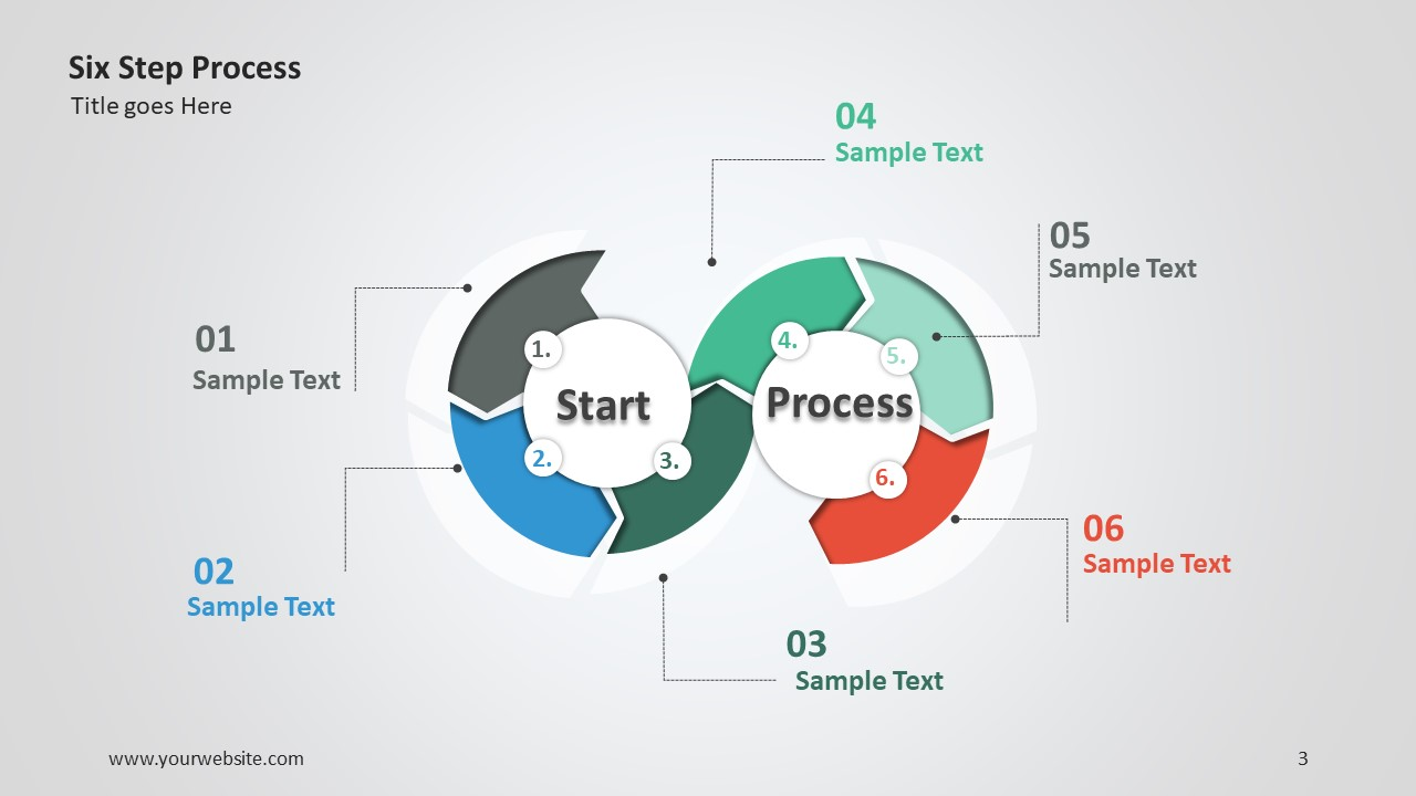 six step process ppt diagram this diagram makes it easy to present a 6 step process and the concepts related to the core topic the template is to use with