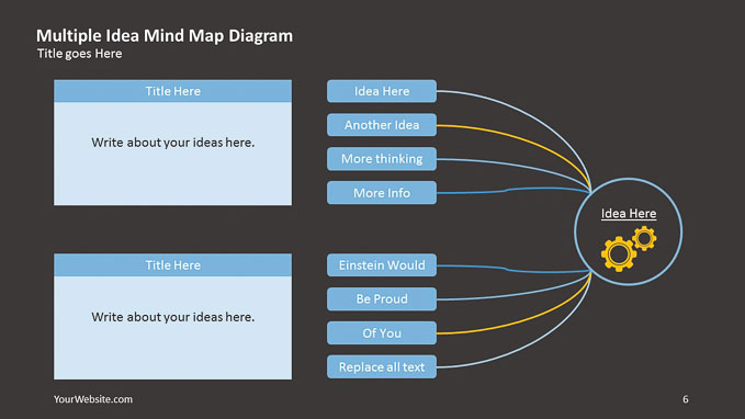 multiple idea mind map ppt diagram slide ocean. Black Bedroom Furniture Sets. Home Design Ideas