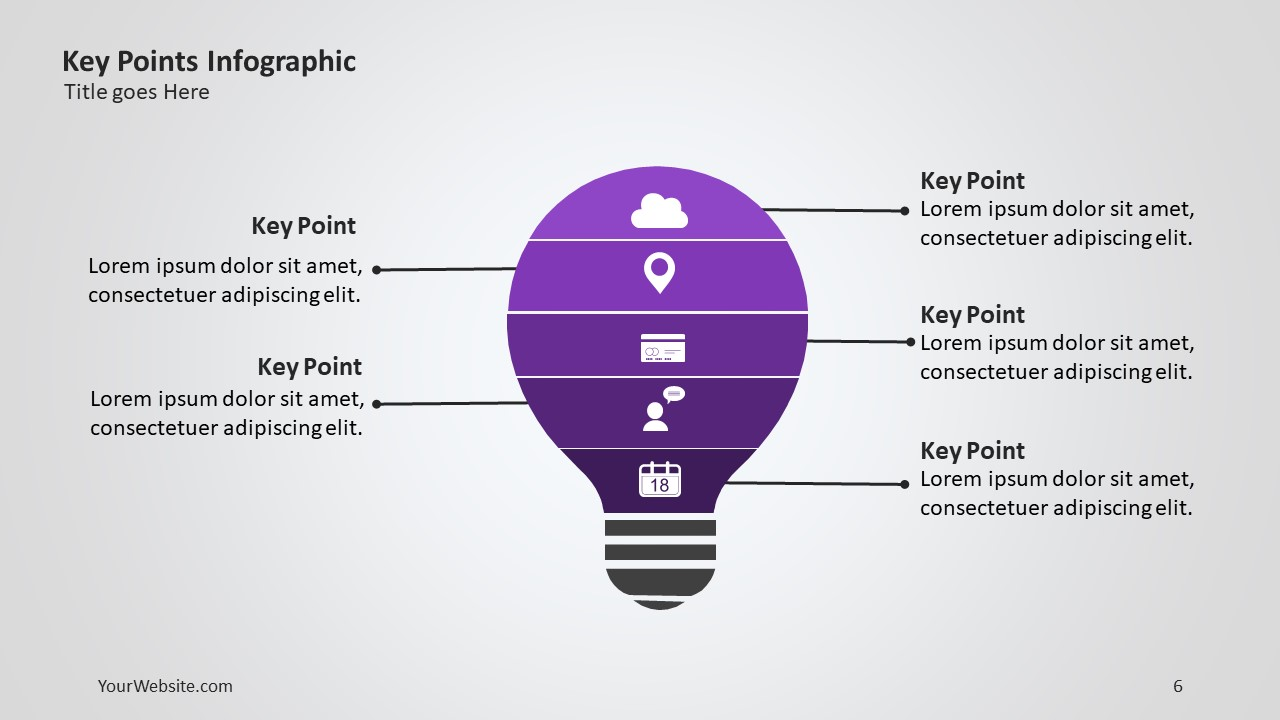 Key Points Ppt Infographic The Template Is Very Useful Hen Presenting Information About A Concept And Subconcepts That Make Up Whole