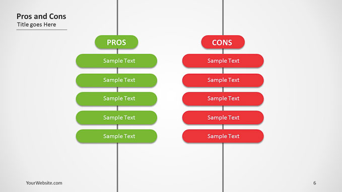 Flat Pros And Cons Ppt Diagram
