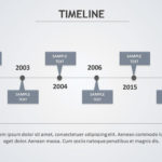 Timeline Blue and Gray