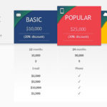 Editable Price Table PPT