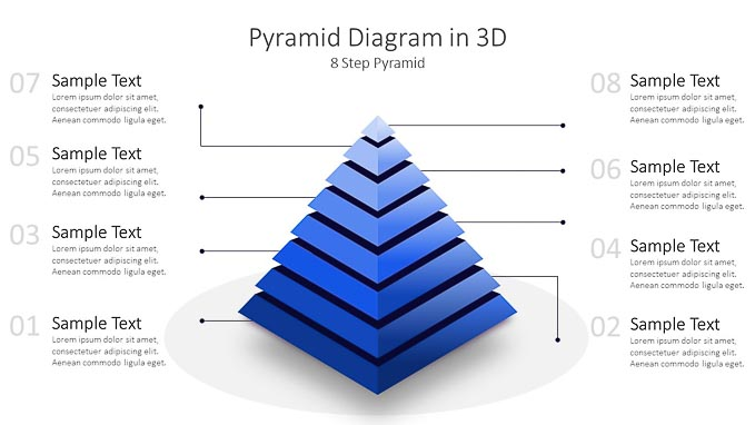 Multi-Step, Pyramid, Diagram, Template, Slides, for, PowerPoint, PPT, Power Point,