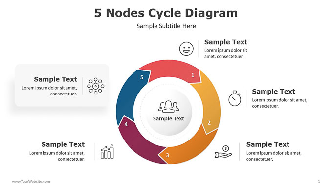 5-Nodes-Cycle-Diagram-PowerPoint