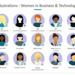 Illustrations Women in Business and Technology PPT