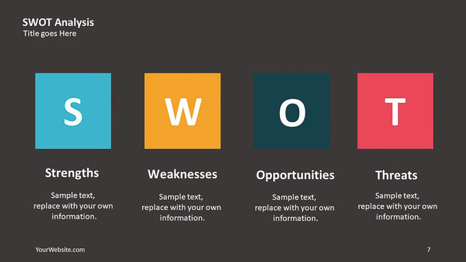 Swot Analysis Powerpoint Diagram  U2013 Slide Ocean